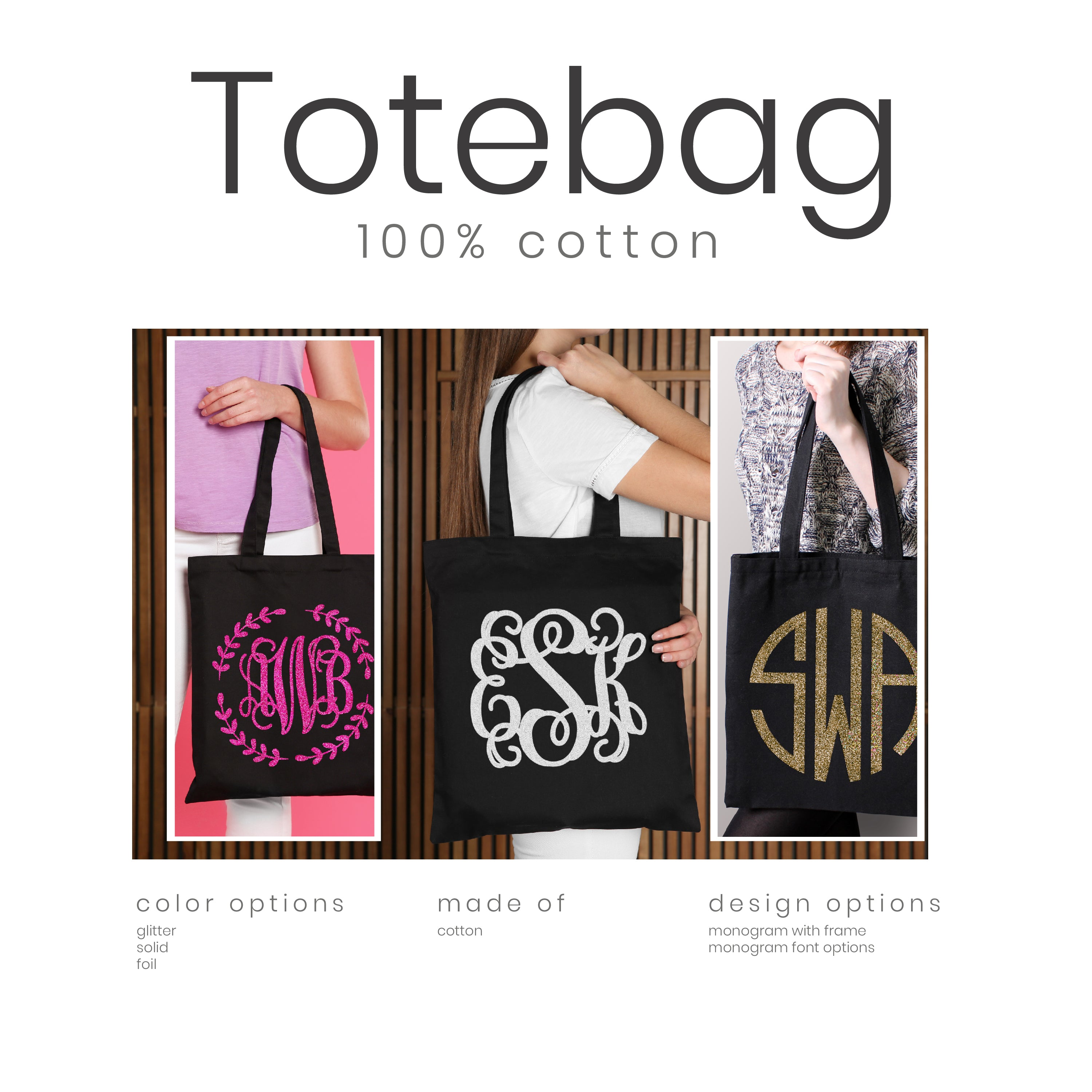 Custom majestic zebra tote shopping bag personalised with any text and gift message \u2013 ref tof59