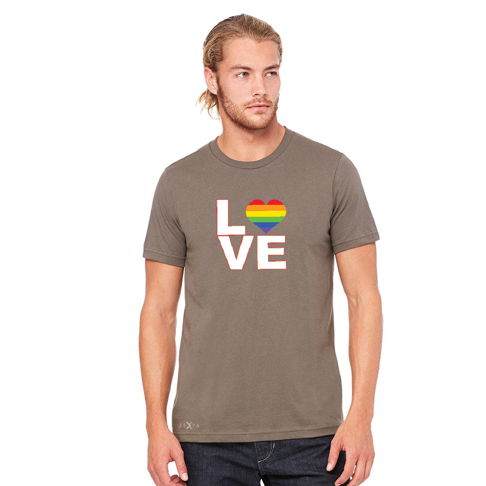 Love is Love - Love Wins Rainbow Men's T-shirt Pride LGBT Tee - Zexpa Apparel