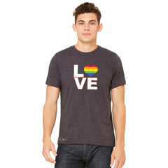 Love is Love - Love Wins Rainbow Men's T-shirt Pride LGBT Tee - zexpaapparel - 3