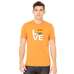 Love is Love - Love Wins Rainbow Men's T-shirt Pride LGBT Tee - zexpaapparel - 7