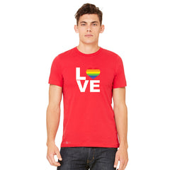 Love is Love - Love Wins Rainbow Men's T-shirt Pride LGBT Tee - zexpaapparel - 9