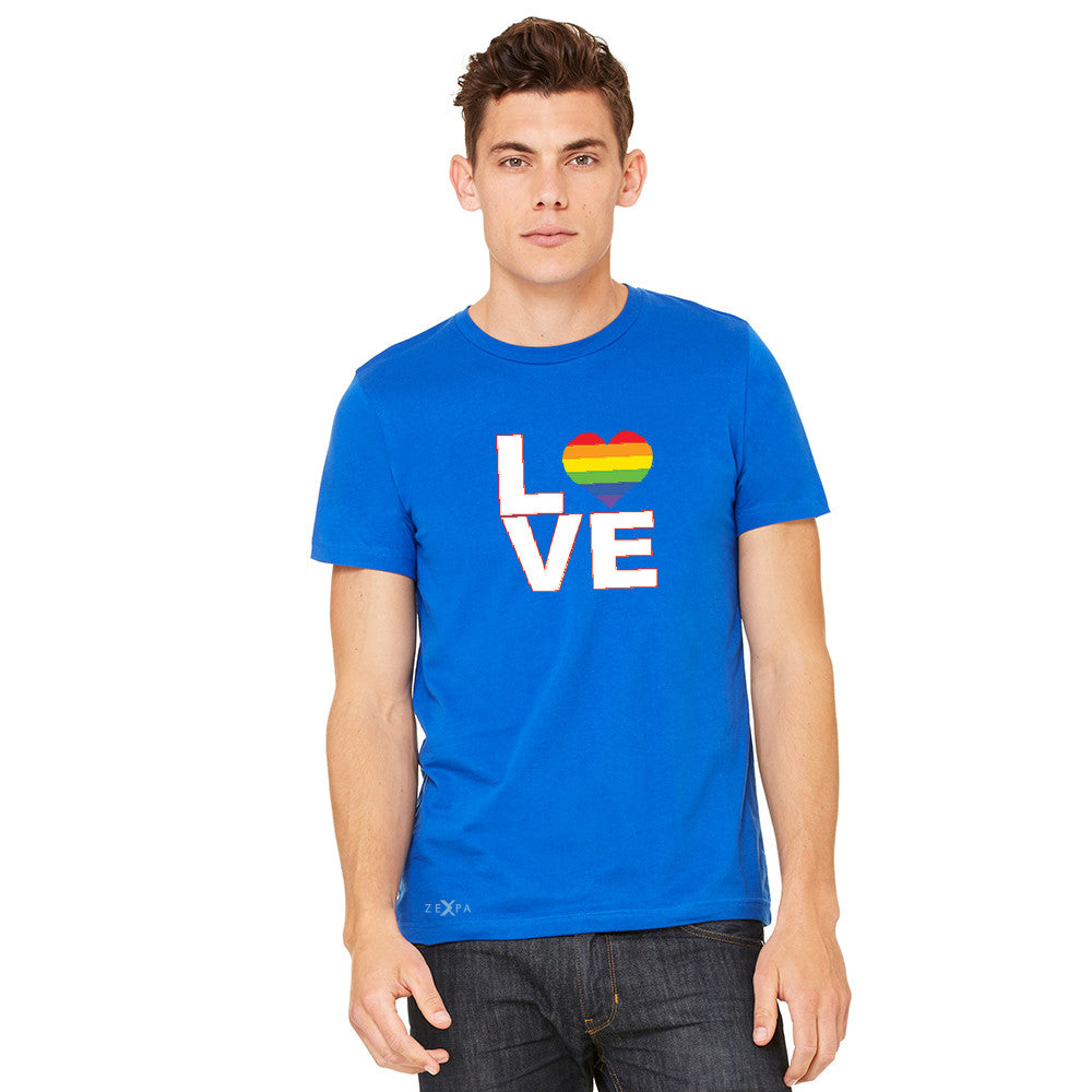 Love is Love - Love Wins Rainbow Men's T-shirt Pride LGBT Tee - zexpaapparel - 10
