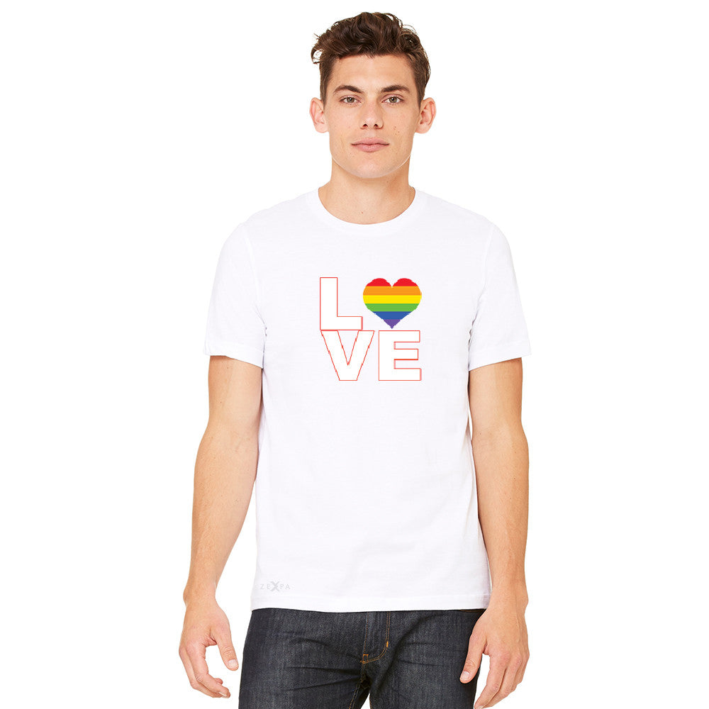 Love is Love - Love Wins Rainbow Men's T-shirt Pride LGBT Tee - zexpaapparel - 11