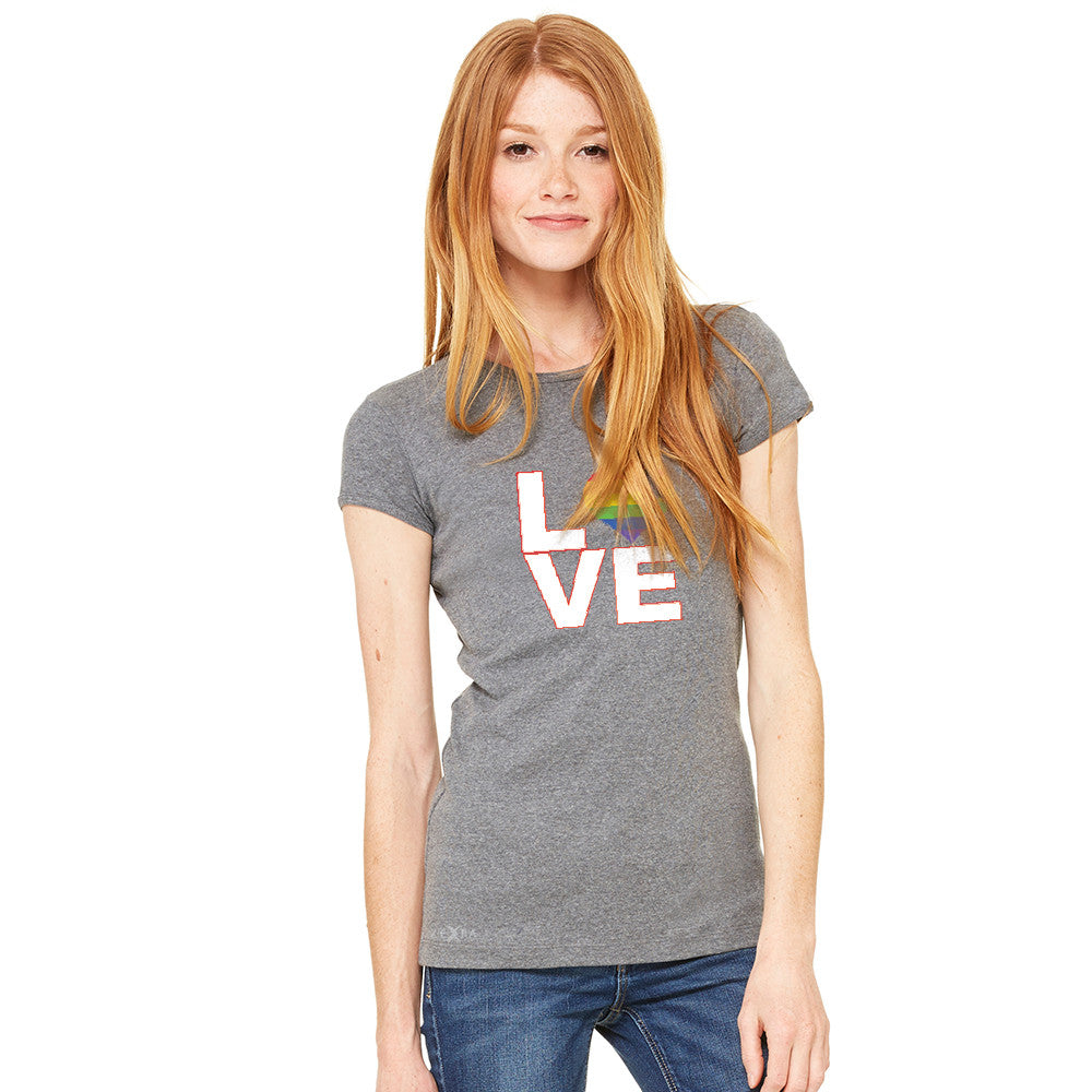 Love is Love - Love Wins Rainbow Women's T-shirt Pride LGBT Tee - zexpaapparel - 3
