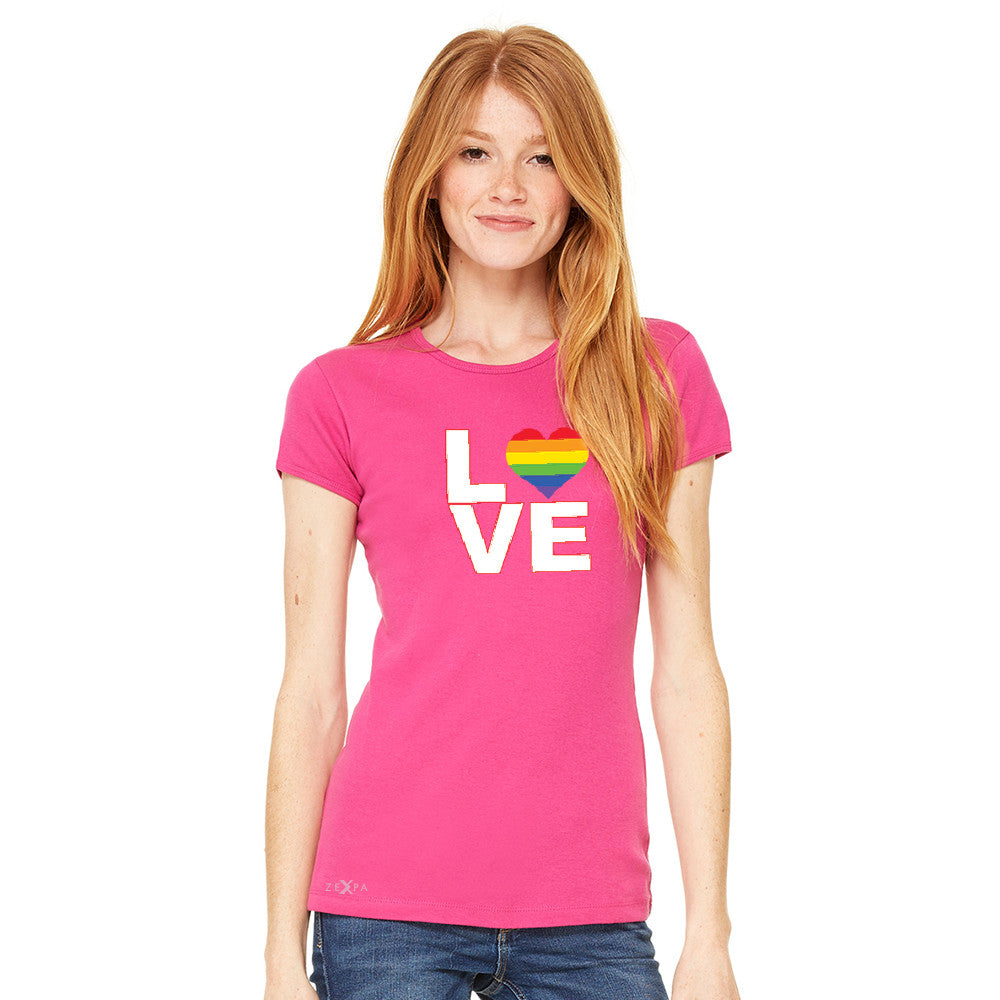 Love is Love - Love Wins Rainbow Women's T-shirt Pride LGBT Tee - zexpaapparel - 4