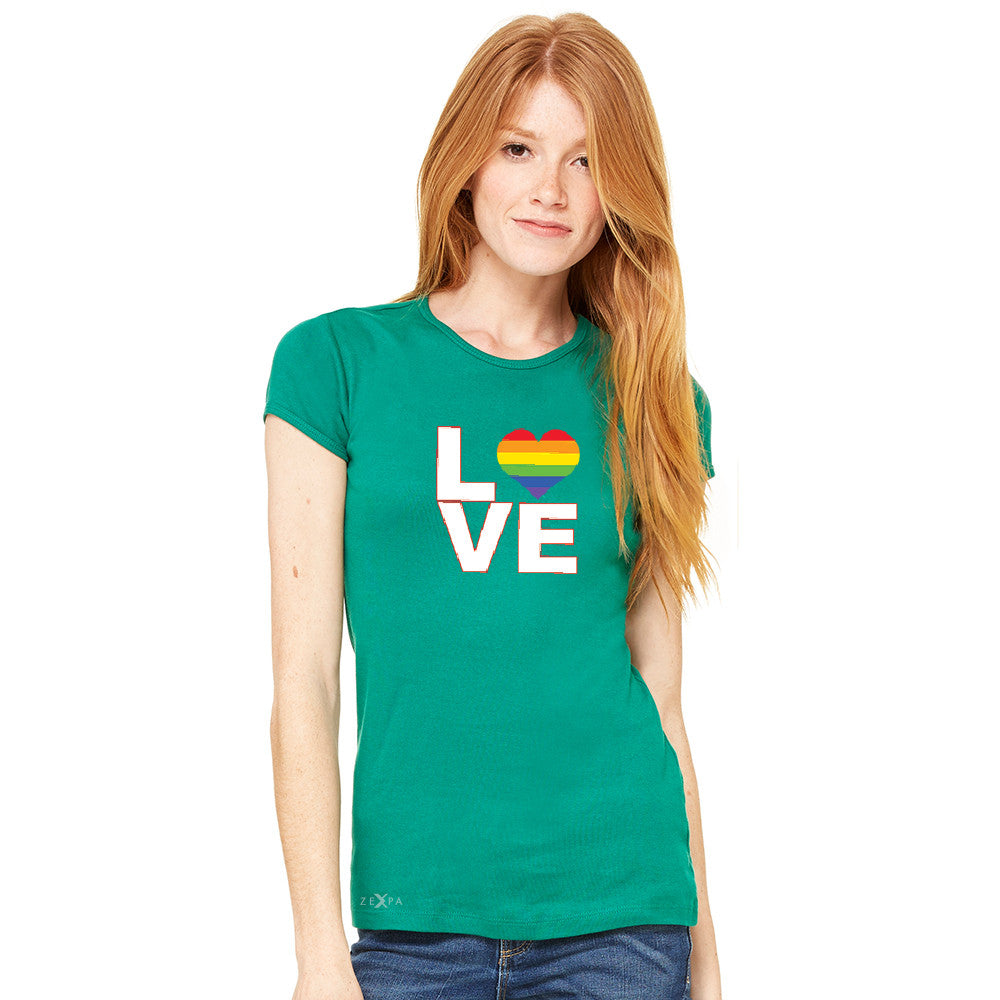 Love is Love - Love Wins Rainbow Women's T-shirt Pride LGBT Tee - zexpaapparel - 5