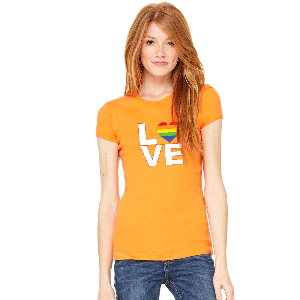 Love is Love - Love Wins Rainbow Women's T-shirt Pride LGBT Tee - zexpaapparel - 6