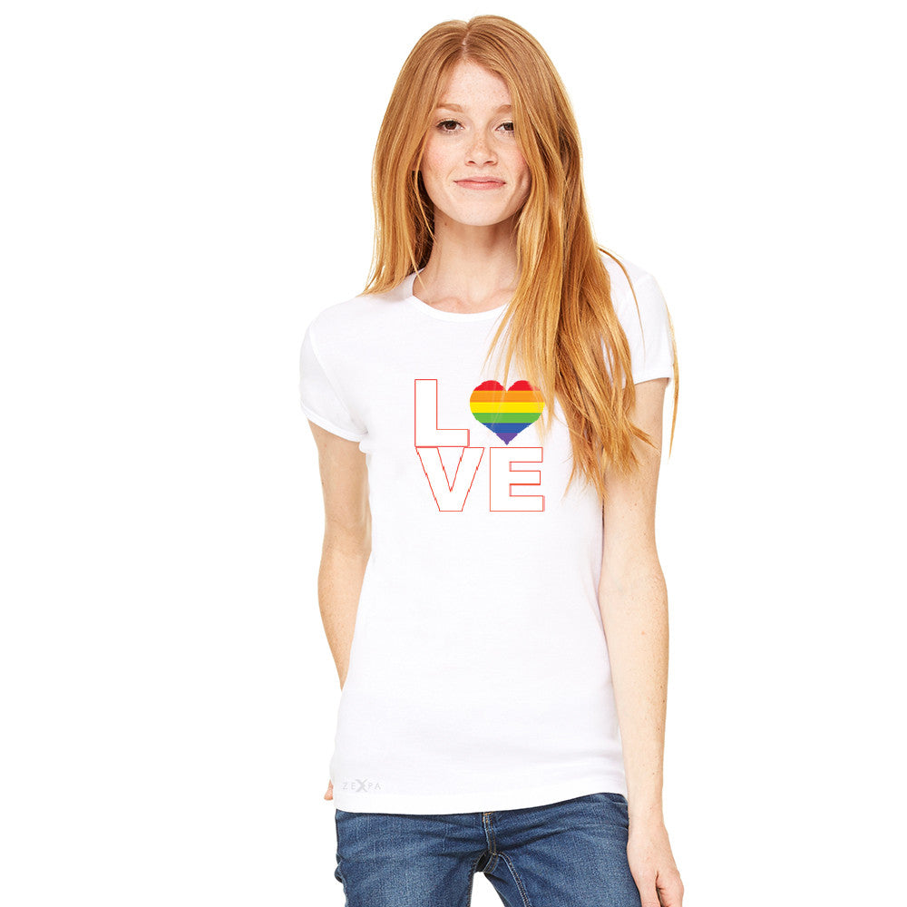 Love is Love - Love Wins Rainbow Women's T-shirt Pride LGBT Tee - Zexpa Apparel