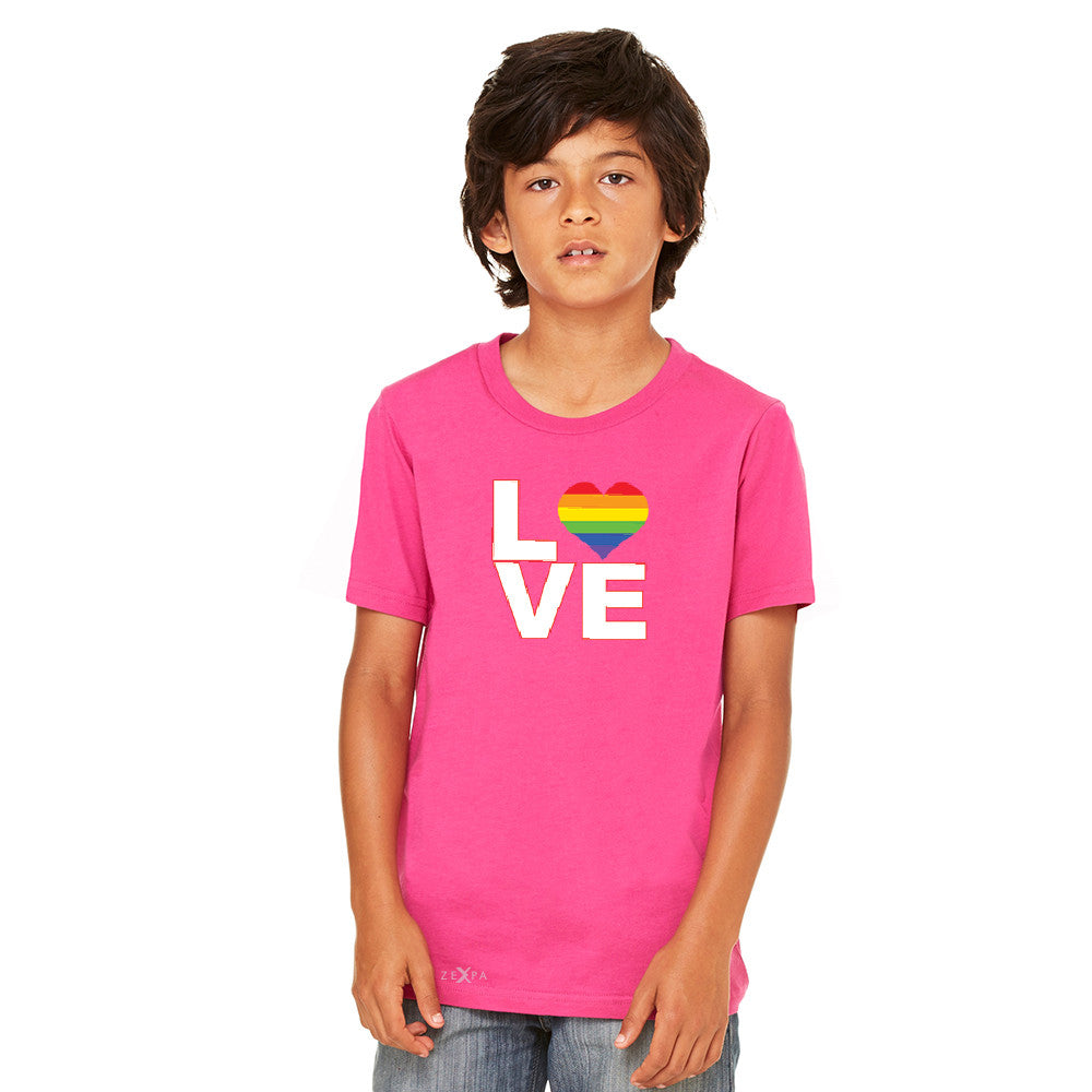 Love is Love - Love Wins Rainbow Youth T-shirt Pride LGBT Tee - Zexpa Apparel - 2