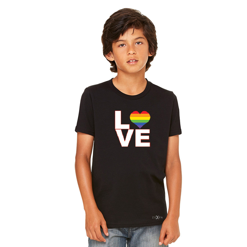 Love is Love - Love Wins Rainbow Youth T-shirt Pride LGBT Tee - Zexpa Apparel
