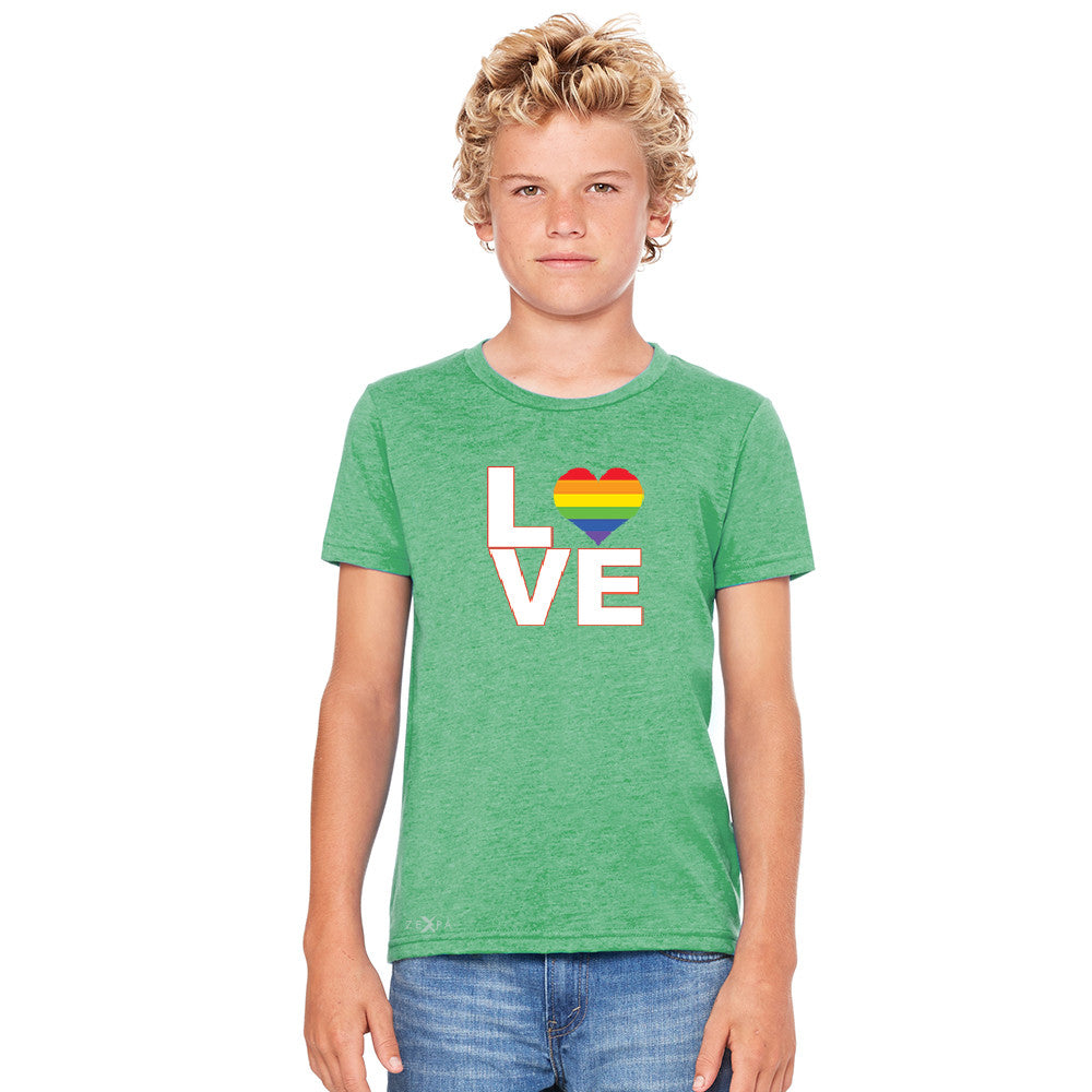 Love is Love - Love Wins Rainbow Youth T-shirt Pride LGBT Tee - Zexpa Apparel - 3