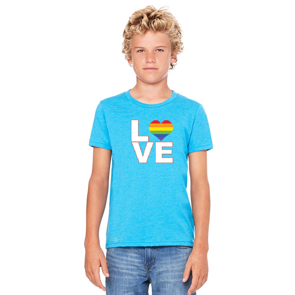 Love is Love - Love Wins Rainbow Youth T-shirt Pride LGBT Tee - Zexpa Apparel - 4