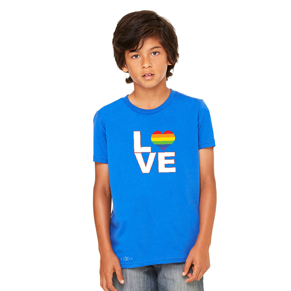Love is Love - Love Wins Rainbow Youth T-shirt Pride LGBT Tee - Zexpa Apparel - 6
