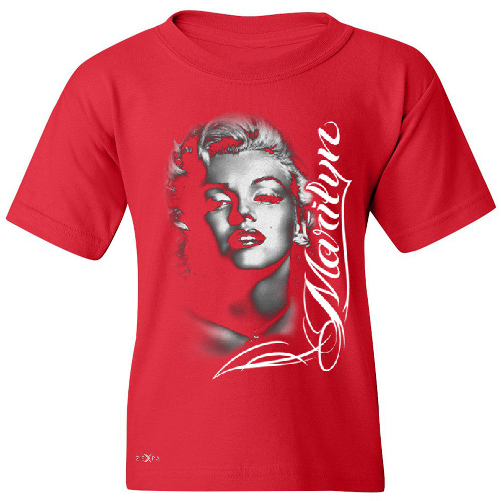 Marilyn Monroe Gangster Respect  Youth T-shirt Tattoo Gun Babe Tee - Zexpa Apparel - 4
