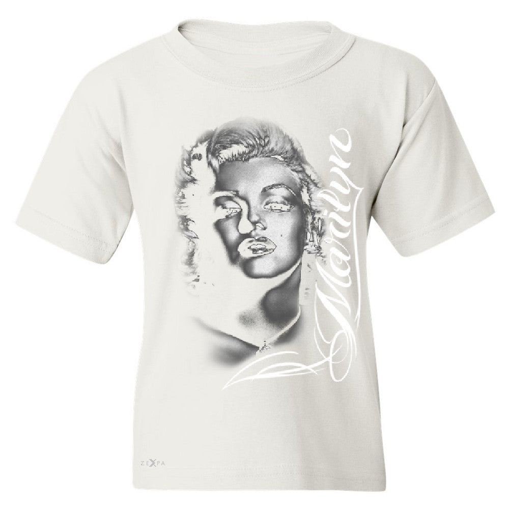 Marilyn Monroe Gangster Respect  Youth T-shirt Tattoo Gun Babe Tee - Zexpa Apparel - 5