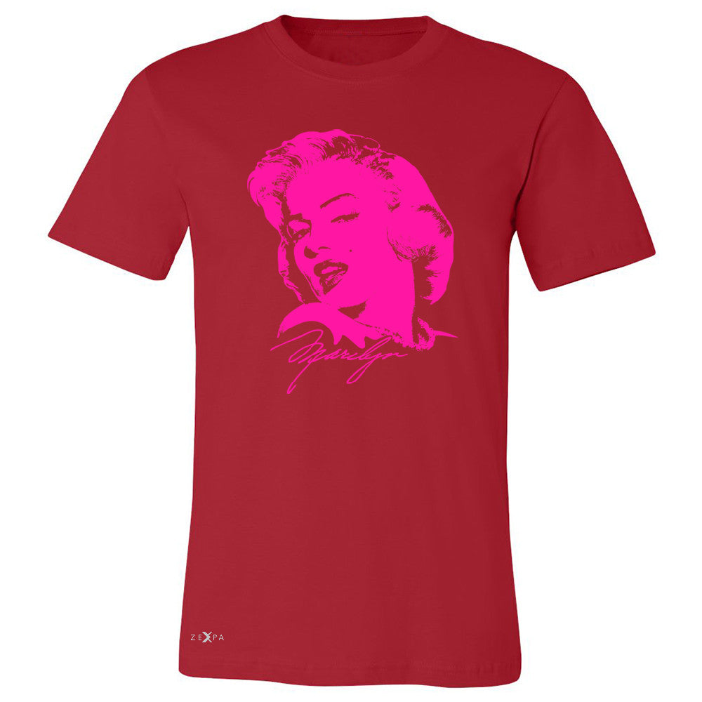 "Zexpa Apparelâ""¢ Neon Marilyn Monroe Pink Men's T-shirt Marilyn Signature Cool Tee - Zexpa Apparel Halloween Christmas Shirts"