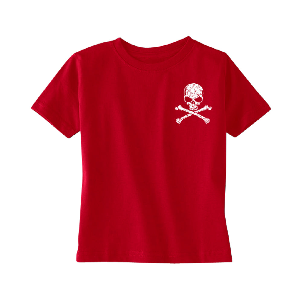 Pocket Design - Skull and Crossbones TODDLER T-Shirt