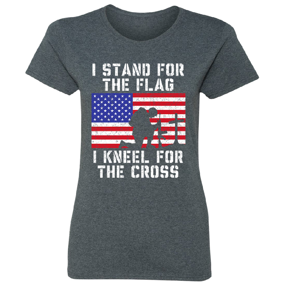 Stand for USA Flag Kneel for Cross Women's T-Shirt