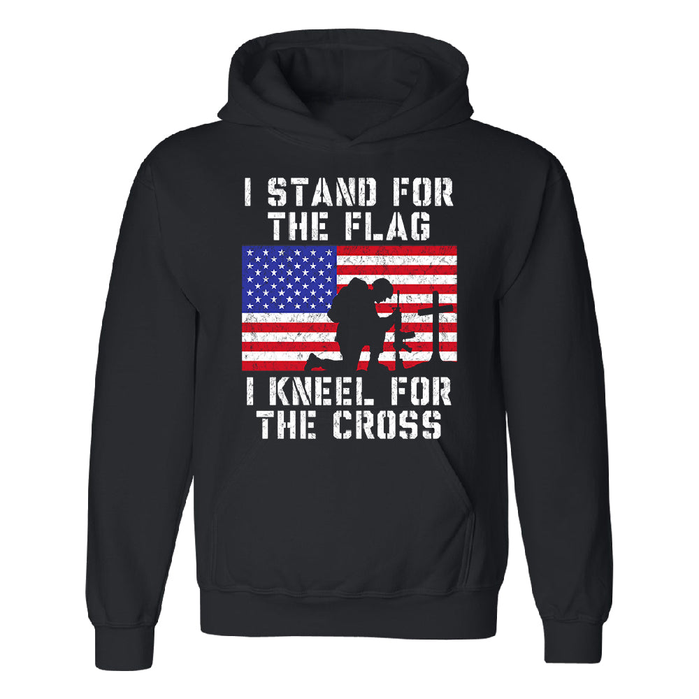 Stand for USA Flag Kneel for Cross Unisex Hoodie 4th of July USA Sweater