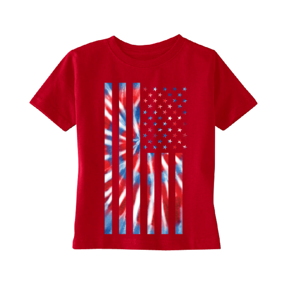 Patriotic Tie Dye American Flag TODDLER T-Shirt