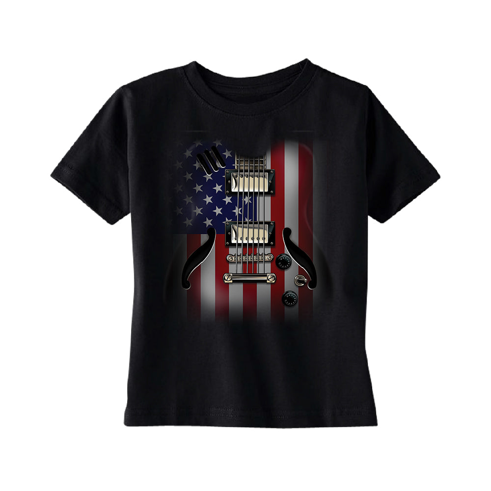 Patriotic American Flag Guitar TODDLER T-Shirt