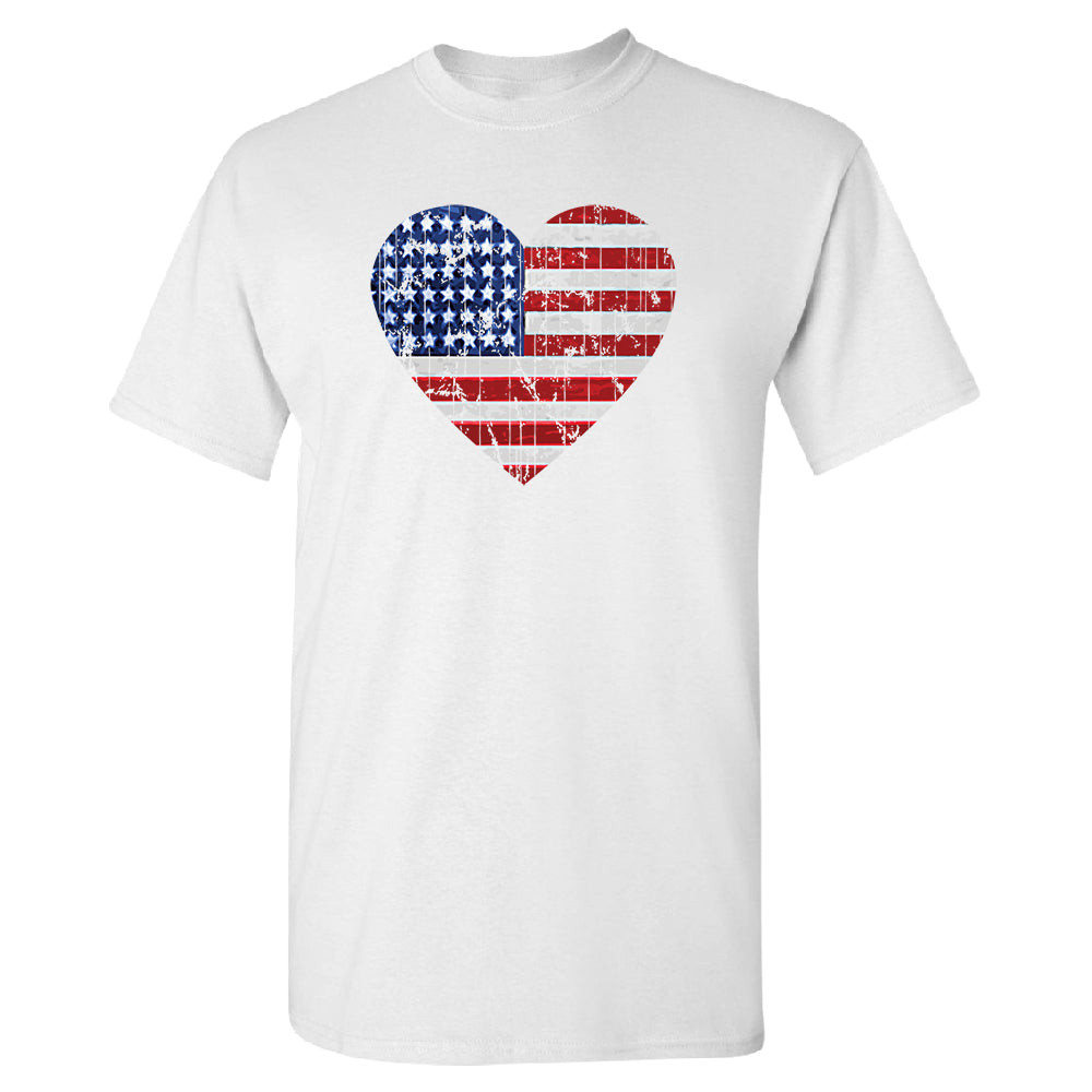 American Flag Heart Love Men's T-Shirt