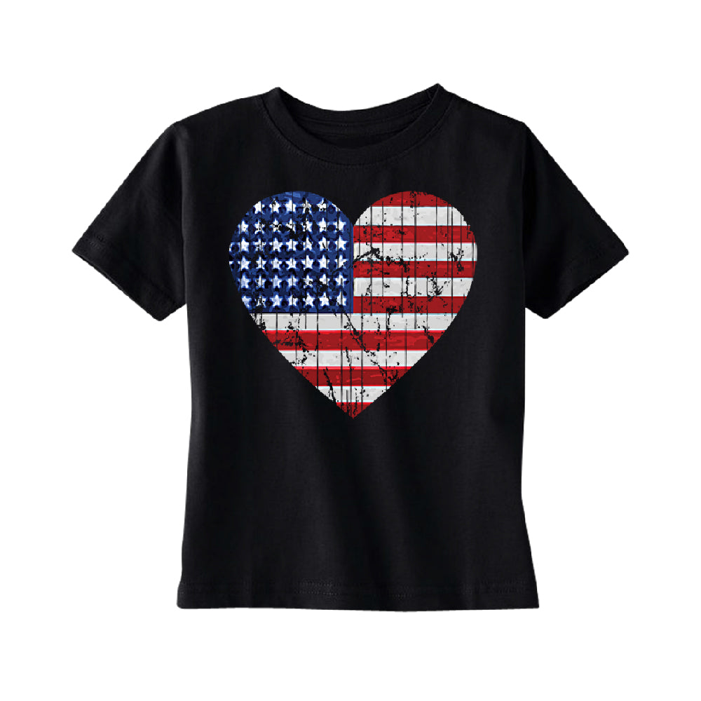 American Flag Heart Love TODDLER T-Shirt