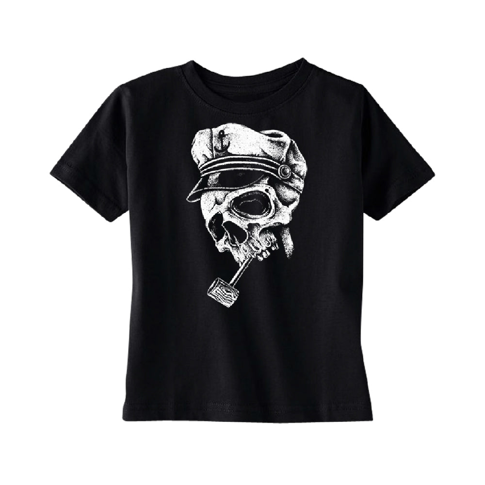Skull Captain Hat & Pipe TODDLER T-Shirt