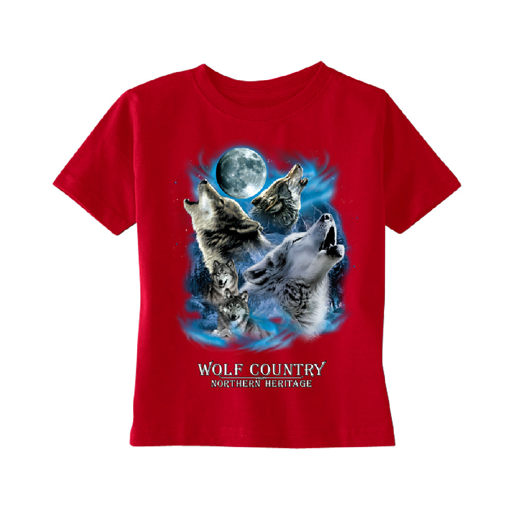 Wolves Howling Full Moon TODDLER T-Shirt