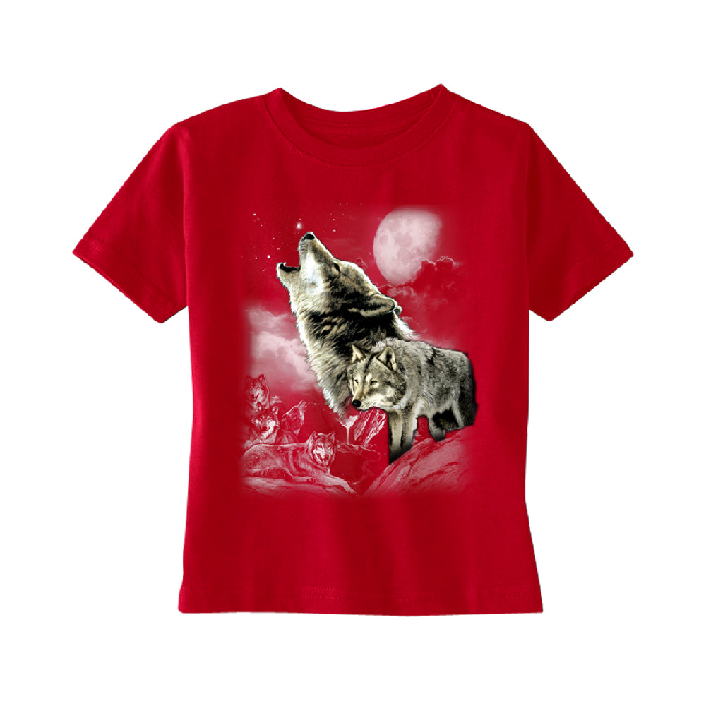 Wolves Wildness Howling Full Moon TODDLER T-Shirt