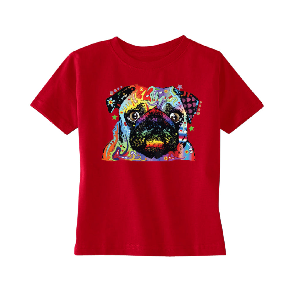 Official Dean Russo Colorful Pug TODDLER T-Shirt