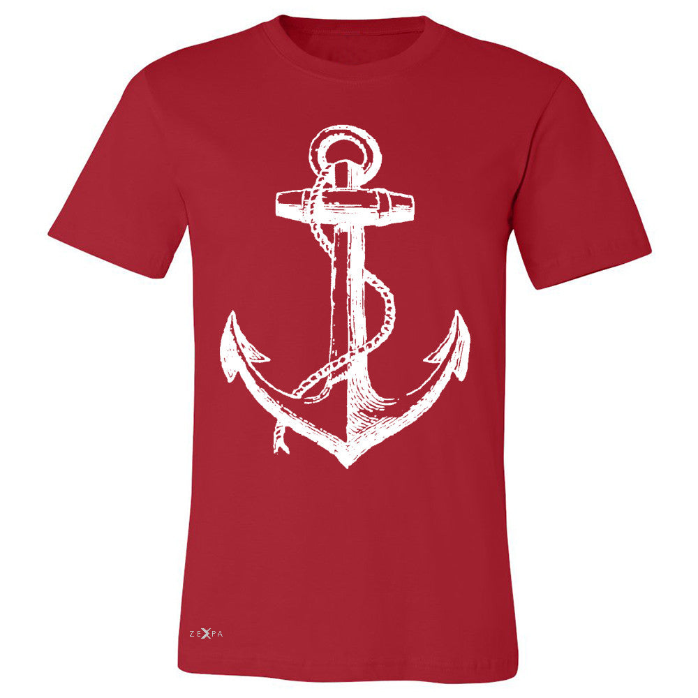 Anchor White Men's T-shirt Nautical Anchor Marine Fashion Tee - Zexpa Apparel Halloween Christmas Shirts
