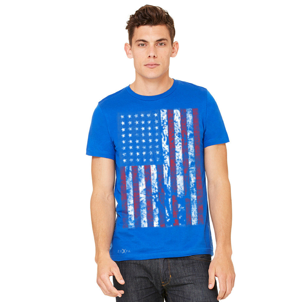 Distressed USA Flag 4th of July Men's T-shirt Patriotic Tee - Zexpa Apparel - 10