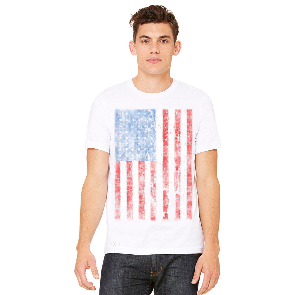 Distressed USA Flag 4th of July Men's T-shirt Patriotic Tee - Zexpa Apparel