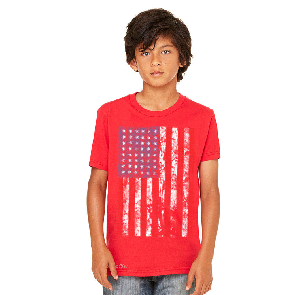 Distressed USA Flag 4th of July Youth T-shirt Patriotic Tee - Zexpa Apparel - 5
