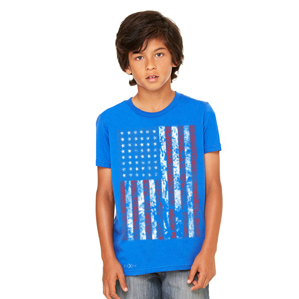 Distressed USA Flag 4th of July Youth T-shirt Patriotic Tee - Zexpa Apparel