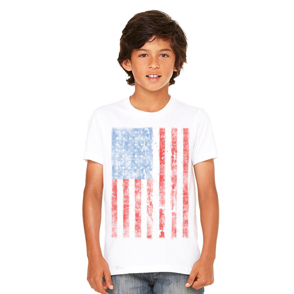 Distressed USA Flag 4th of July Youth T-shirt Patriotic Tee - Zexpa Apparel - 7