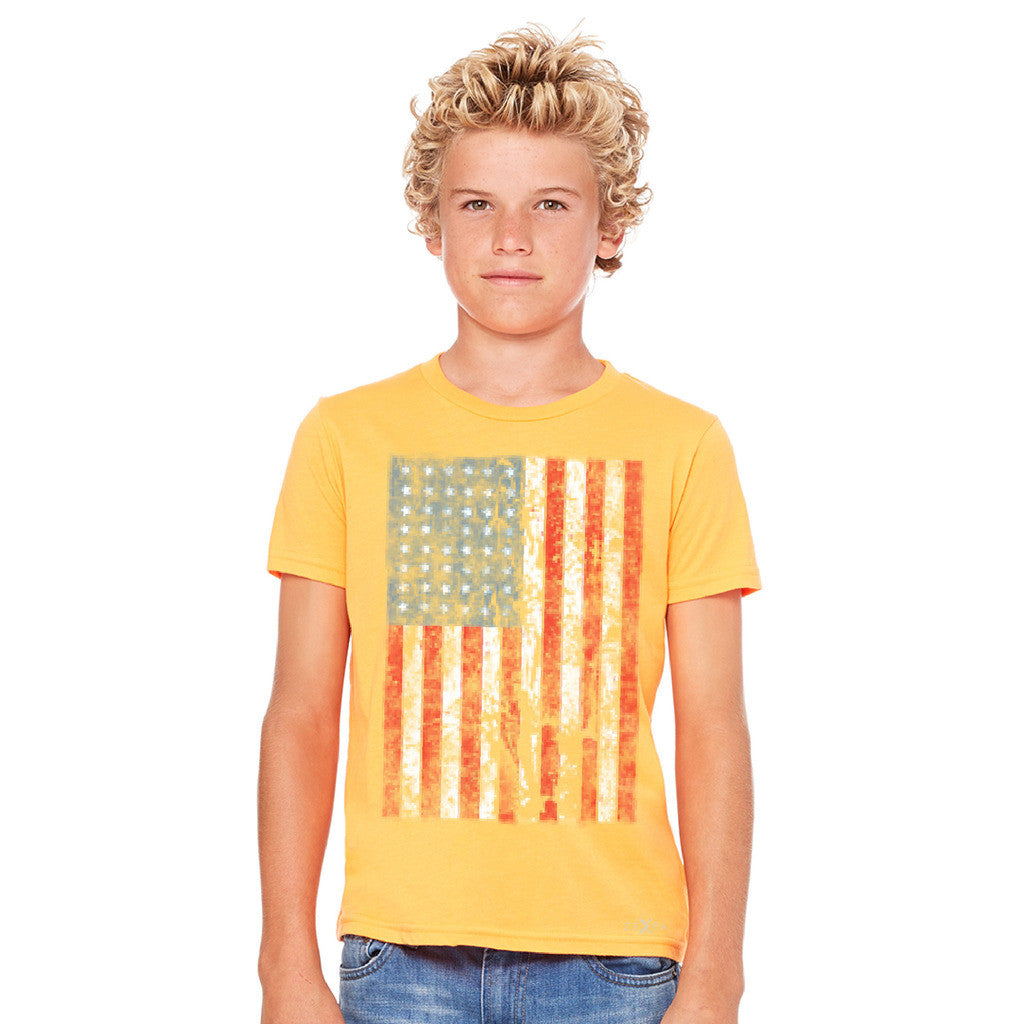 Distressed USA Flag 4th of July Youth T-shirt Patriotic Tee - Zexpa Apparel - 8