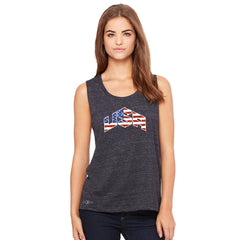 USA Basketball Team Logo Olympics Women's Muscle Tee Patriotic Sleeveless - zexpaapparel - 2