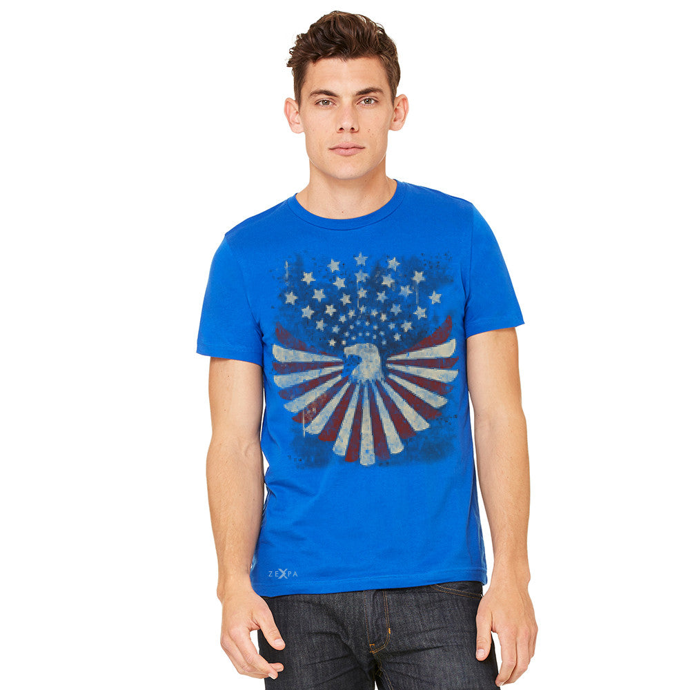 American Bald Eagle USA Vintage Flag Men's T-shirt Patriotic Tee - Zexpa Apparel Halloween Christmas Shirts