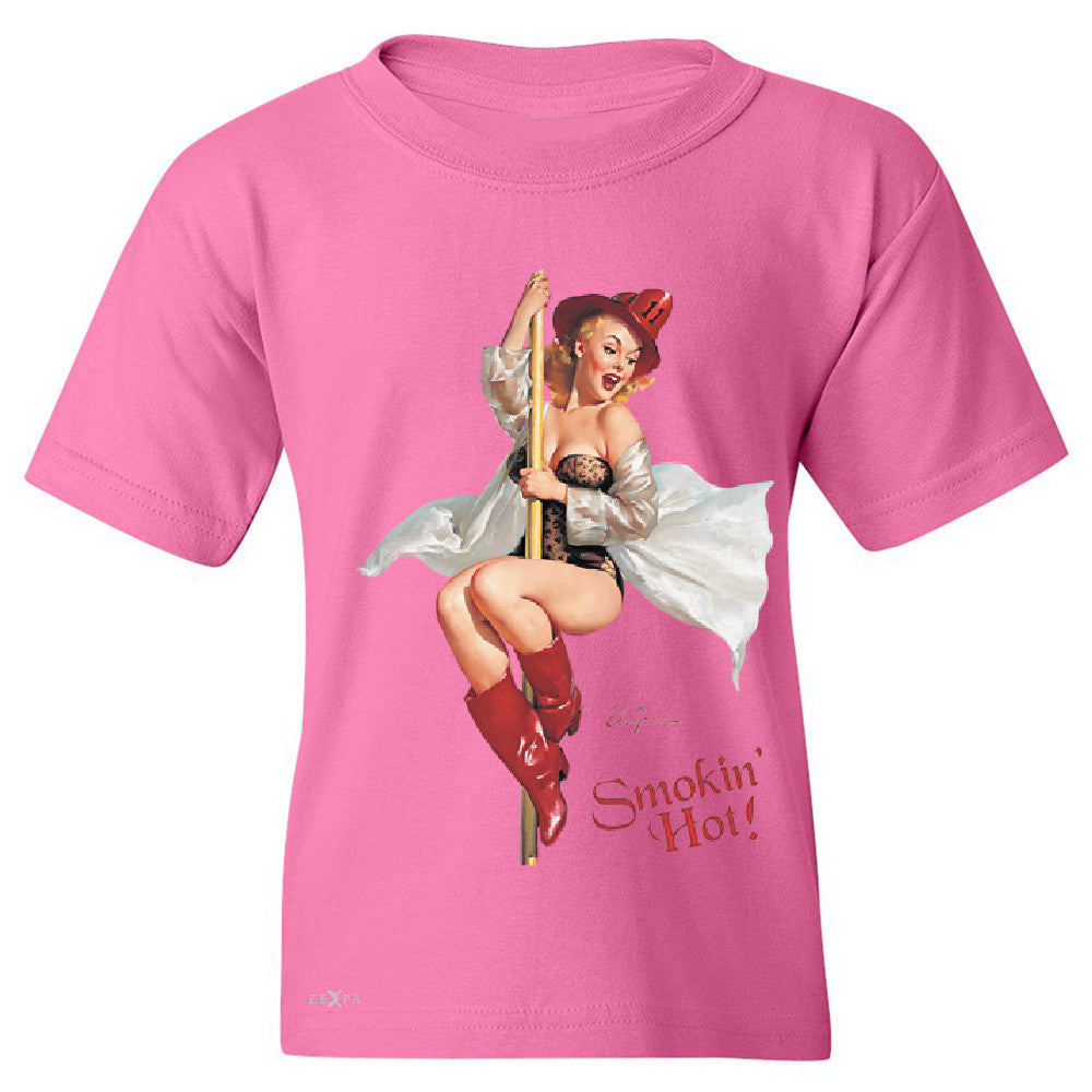 Pin-Up Fire Belle Youth T-shirt Beautiful Fire Bell Pin Up Tee - Zexpa Apparel - 3