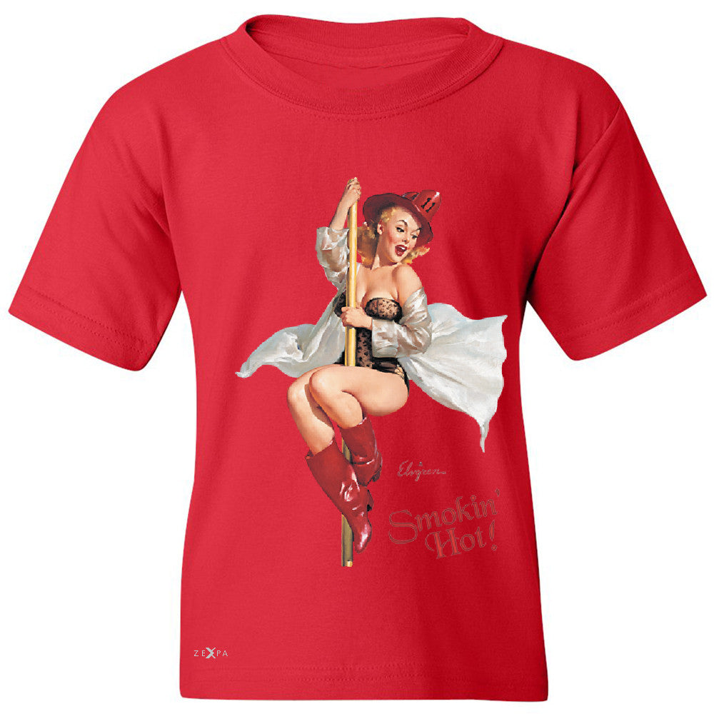 Pin-Up Fire Belle Youth T-shirt Beautiful Fire Bell Pin Up Tee - Zexpa Apparel - 4
