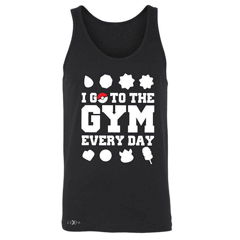 I Go To The Gym Every Day Men's Jersey Tank Poke Shirt Fan Sleeveless - Zexpa Apparel - 1