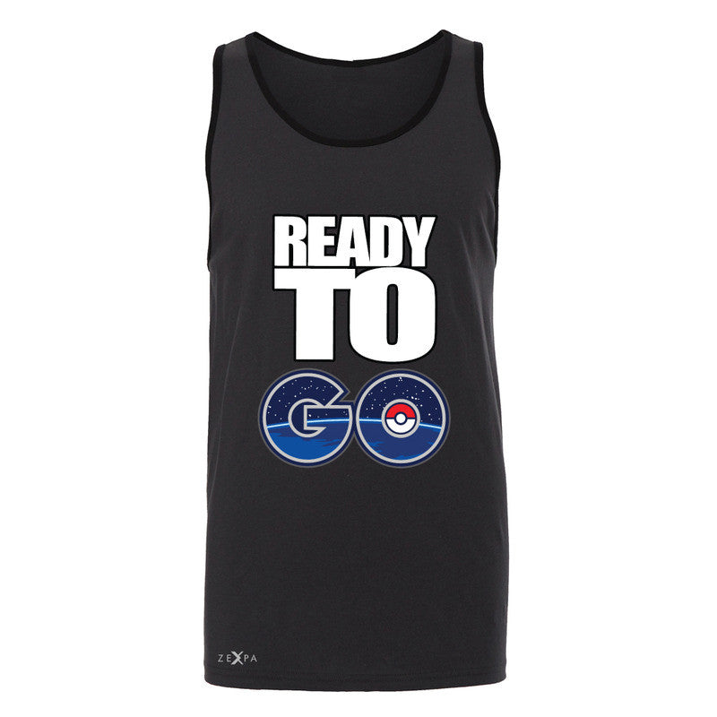 Ready to Go Men's Jersey Tank Poke Shirt Fan Sleeveless - Zexpa Apparel - 3