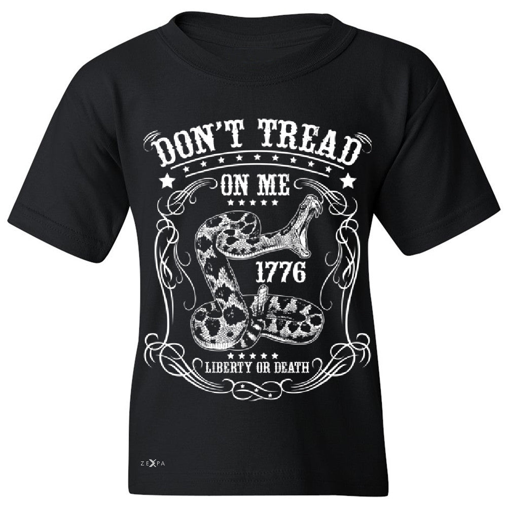 Don't Tread On Me Youth T-shirt 1776 Liberty Or Death Political Tee - Zexpa Apparel - 1