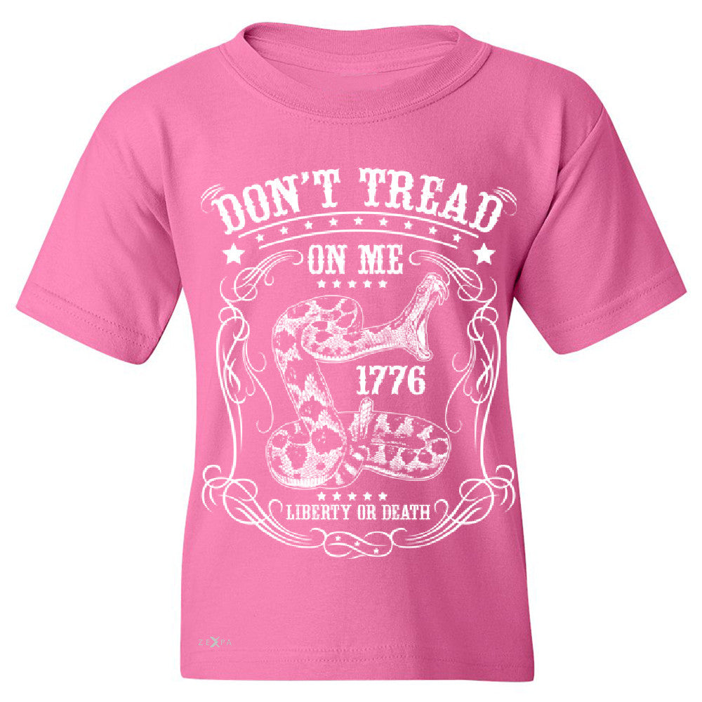 Don't Tread On Me Youth T-shirt 1776 Liberty Or Death Political Tee - Zexpa Apparel - 3