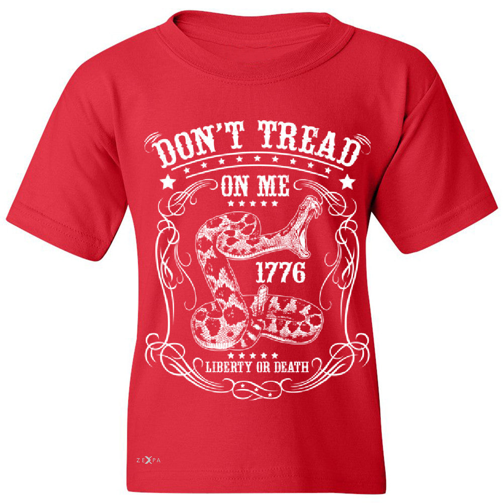Don't Tread On Me Youth T-shirt 1776 Liberty Or Death Political Tee - Zexpa Apparel - 4