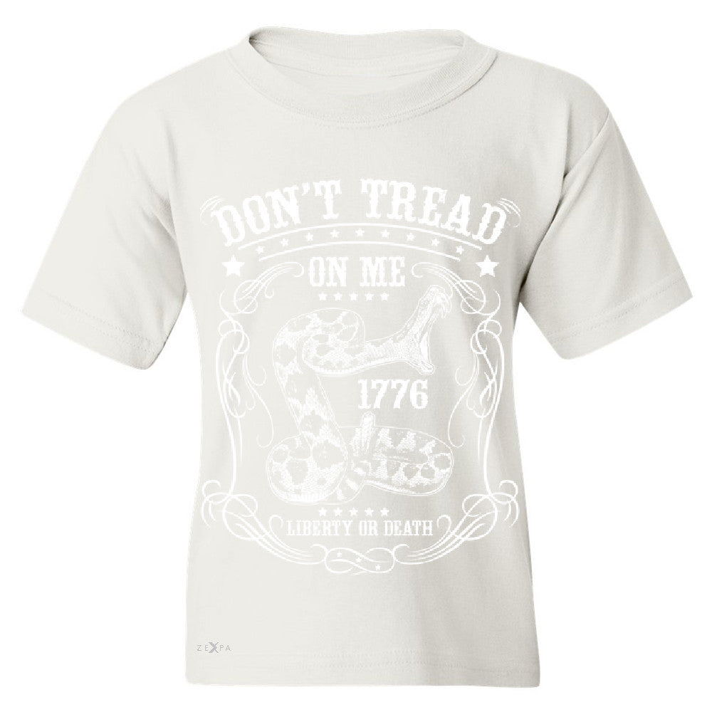 Don't Tread On Me Youth T-shirt 1776 Liberty Or Death Political Tee - Zexpa Apparel - 5