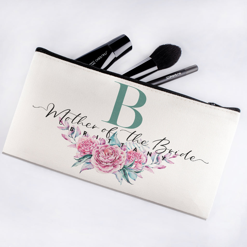 Personalized Makeup Bag Bridesmaid | Wedding Customized Pouch | Bachelorette Party Cosmetic Case |Toiletries Hndy Organizer with Zipper|Events Parties Baby Shower Anniversary Christmas Gift|Desging #9