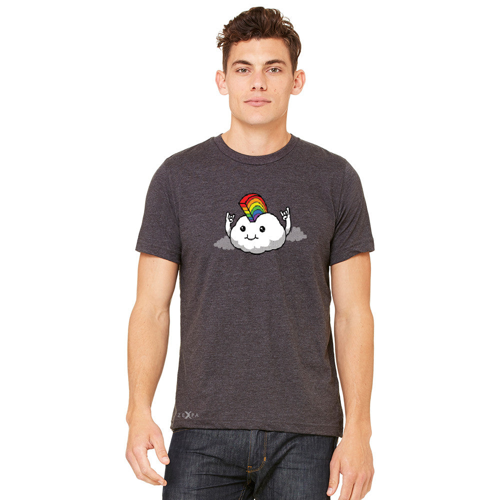 Rainbow Mohican Rocker Cool Cloud  Men's T-shirt Pride LGBT Tee - Zexpa Apparel